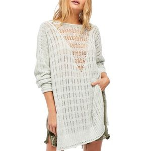 New FREE PEOPLE Pretty in Pointelle Tunic Sweater